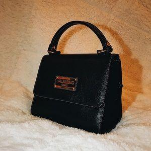 Valentino VERY RARE Black Leather Handbag Purse